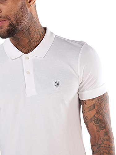 883 POLICE bosa Kern Polo T-Shirt Weiss Wht