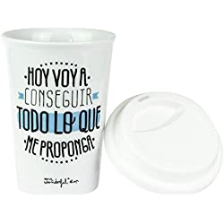 "Mr.Wonderful WOA02790 - Taza take away ""Hoy voy a conseguir todo lo que me proponga"""