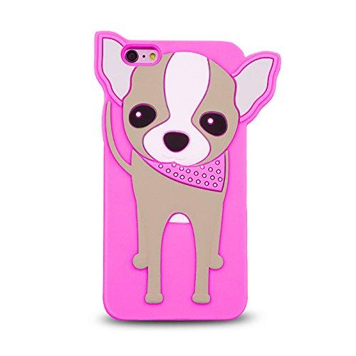 BACK CASE 3D Chihuahua Hund für Apple iPhone 5 / 5G / 5S Hülle Cover Case Schutzhülle Tasche (pink) pink