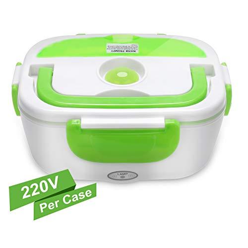 Yissvic scaldavivande portavivande elettrico lunch box portatile plastica 1,5l per campeggio casa ufficio ecc verde