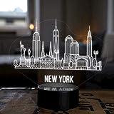 LED Deko Lampe New York City Skyline - Elbeffekt - USA Amerika Dekoration - Reisen Travel Souvenir Geschenk Andenken