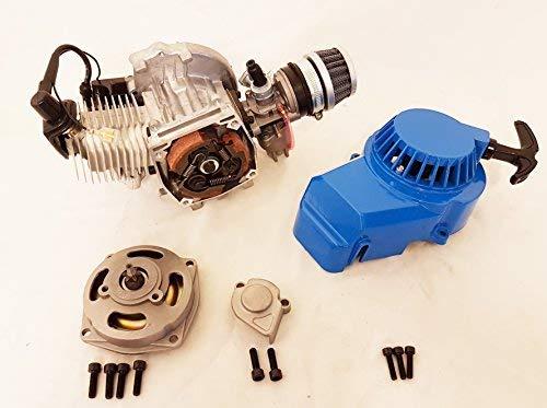 Complete 2 times 49 cc single cylinder engine for minimoto / Mini Quad