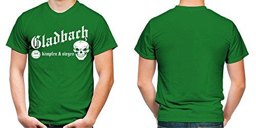 Gladbach kämpfen & siegen Männer und Herren T-Shirt | Fussball Ultras Geschenk | M1 Grün