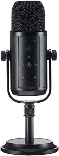AmazonBasics - Micrófono de condensador, USB, profesional - Negro