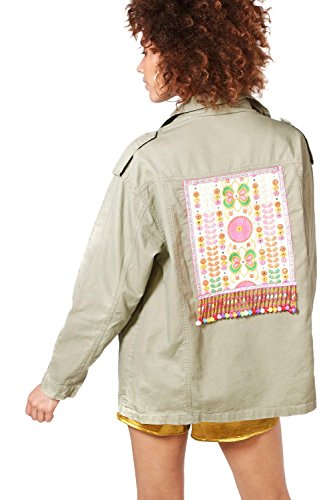 Femmes Kaki Boutique Alice Embroidered Utility Jacket Kaki