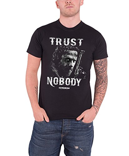 the-walking-dead-trust-nobody-rick-grimes-offiziell-herren-nue-schwarz-t-shirt