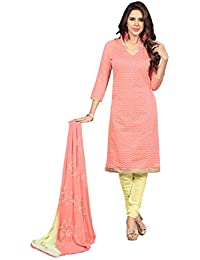 Florence Women's Chanderi Cotton Dress Material (SB-3007)