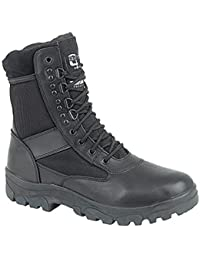 Mens G-Force Hi-Leg Combat Boots With Steel Shank Sole Protection