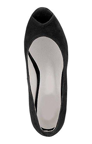 Andrea Conti scarpe donna Spuntate Nero Nero