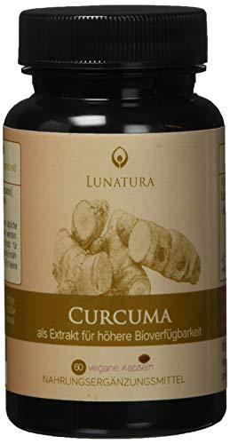 Curcuma Extrakt [Hochdosiert 1 Kapsel täglich mit 375 mg] - Kurkuma mit 95{da764c2c3b75ded4ca7a32c21a273ef687a19a604958be7b19b567b6b7840a55} Curcumin | analog zu 28.500mg Curcumin | OHNE Pfeffer | Höchste Bio Verfügbarkeit | aus Curcuma Longa Pulver (60 Kapseln)