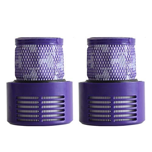 FBGood Universal Staubsauger Ersatzteile, Hocheffizienten Reinigungs Swerkzeugsätze Kompatibel mit Cyclone V10 Kehrmaschinen Zubehör (2 Stück Waschbare Hepa Filter)