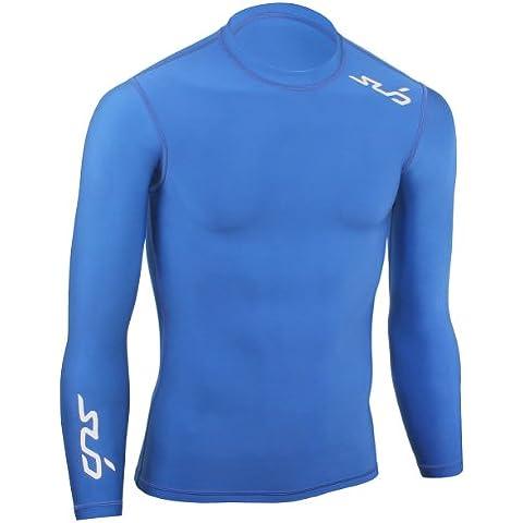 Sub Sports Bambino Cold Maglietta a compressione Thermisch Biancheria intima tecnica Base Layer a maniche lunghe, Blu (Navy), 140/146 cm