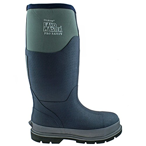 DICKIES LANDMASTER PRO SAFETY NAVY/GREY REFLECTIVE NEOPRENE BOOTS WELLIES FW9902-UK 12 (EU 47) -