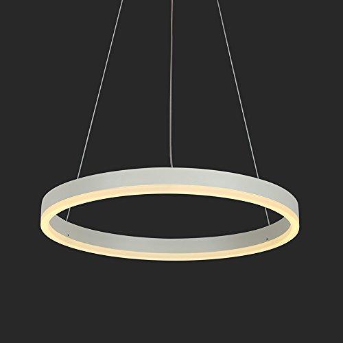 Modern LED Pendelleuchte Kreis Ring Design 22W Hängende Lampe Leuchte für Wohnzimmer Schlafzimmer Esszimmer