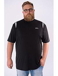 Slazenger - T-shirt TRAIL noir - Slazenger grande taille homme - Noir