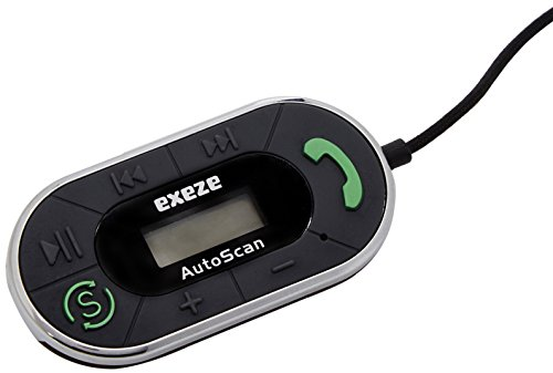 Exeze Pico Talk Chrome - Universal Kfz-Freisprecheinrichtung und FM Transmitter - automatiche frequenzsuche - für jedes Audiogerät mit einem 3,5 mm Audio-Buchse Universal Fm-transmitter