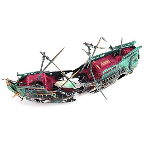Decdeal Aquarium Dekoration Sinkendes Schiff Fisch Tank Ornament - Schiff Sinkende