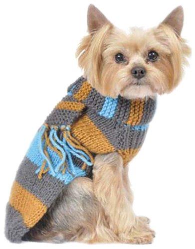 Max 's Closet 00112–8Bold Stripe Pullover mit Schal (Schal Bold Stripe)