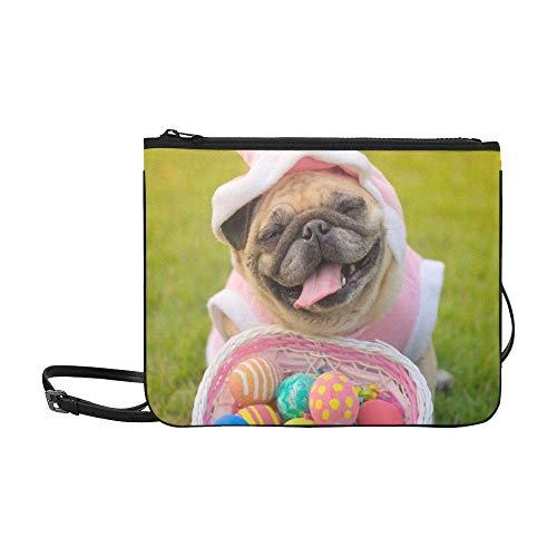 Muster Kostüm Kaninchen - JEOLVP Kitz-Mops-Hundetragendes Kaninchen-Kostüm Stockfoto Muster-Gewohnheit hochwertiges dünnes Nylon-Clutch Bag Cross-Body Bag Shoulder Bag