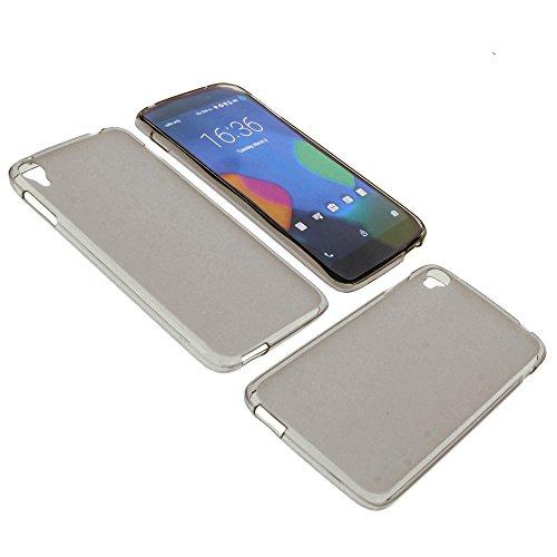 foto-kontor Tasche für Alcatel One Touch Idol 3 5.5 Gummi TPU Schutz Hülle Handytasche grau