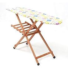 Tabla de planchar (madera de haya 120x 35cm Piano ajustable en 3alturas Miriam