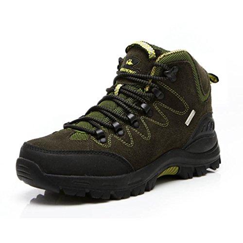 Stivali Da Trekking Per Uomo Lace Up Sportivo All'aperto Antiscivolo Sneakers Inverno Caldo Verde 44 EU Suola In Gomma