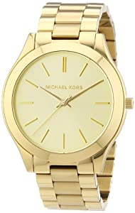 Reloj Michael Kors MK3179 de cuarzo para mujer con correa de acero inoxidable bañado, color dorado de Michael Kors