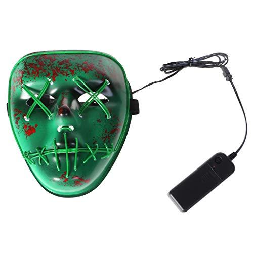 (Sunhoyu LED Halloween Maske Leuchten Blinkende Maske Schädel Halloween Rave Party Supplies)