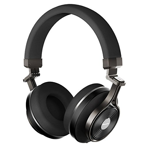 Bluedio T3+ (Turbine 3 Plus) Cuffie Bluetooth 4.1 Wireless con supporto scheda Micro SD e Microfono Stereo 3D (Nero)