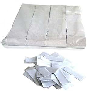 Mondial-fete - 1 kilo confettis papier rectangles blancs 5 cm