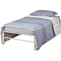 Aingoo - Marco de Cama Individual para niños (Metal, 91 cm), Color Blanco - Muebles de Dormitorio precios