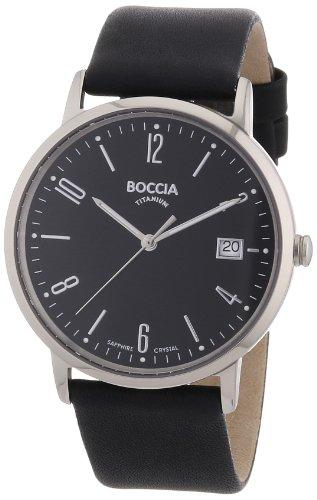 Boccia - 3557-02 - Montre Homme - Quartz Analogique - Bracelet Cuir Noir