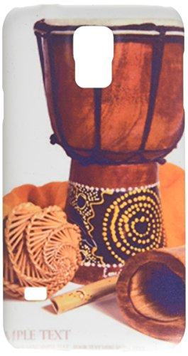 Drum, Didgeridoo und Ethnic Musikinstrumente Isolierte auf Einem WH Handy Tasche Cover Case Samsung S5