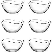Lav 6TLG Cristal cuencos Vira cuencos cristal Carcasa–Cuenco de postre vorspeise Cristal Vasos 310ml