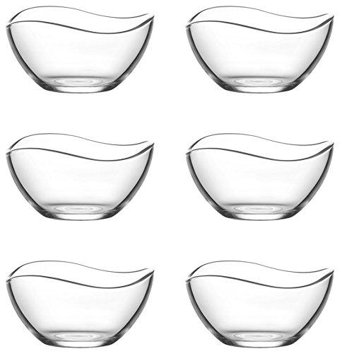 LA&V Lav 6Copas de Cristal Vira rígida (Vidrio-Cuenco de Postre vorspeise rígida 215ML)