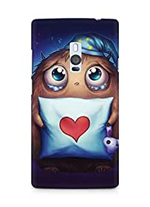 Amez designer printed 3d premium high quality back case cover for OnePlus Two (Cute Heart)