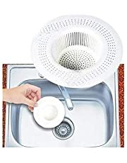 Honestystore Plastic Kitchen Sink Strainer Filter Cup (Medium, White) - Pack of 2
