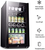 Mini Fridge With Freezer Single Door Small Refrigerator Transparent Refrigerator With Lock With Lamp