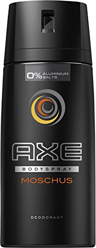 Axe Deospray Moschus ohne Aluminium, 3er Pack (3 x 150 ml) (Axe Body Spray Deodorant)