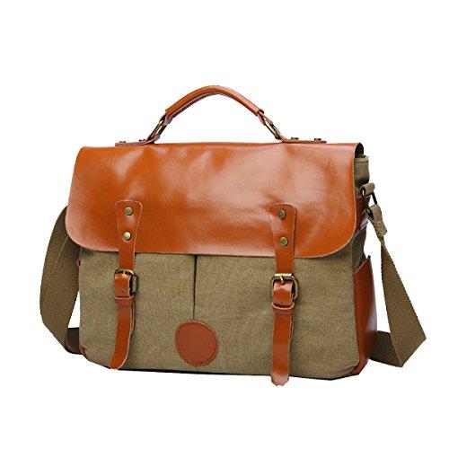 Yy.f Männer Leinwand Reisetasche Schulter Umhängetasche Tragen Große Kapazität Mode Multifunktions Paket 3 Farben Khaki
