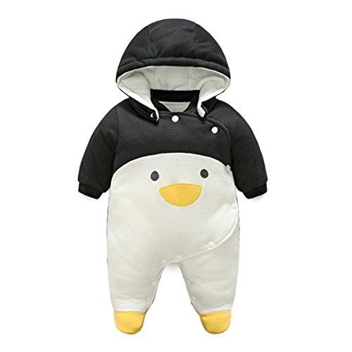 Baby Rompers, FEITONG Baby Outfits Jungen Mädchen Cartoon Pinguin Hoodie Spielanzug Outfits Baumwolle Bekleidung (6M, (Smoking Herren Jacket Kostüme)