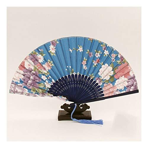 JUWOJIA Seda Seda Antiguo Ventilador Abanico Chino Japonés De Estilo Femenino Y El Viento del Ventilador Plegable Regalo De Artesanía Raso Ventilador Ventilador (21Cm) 8