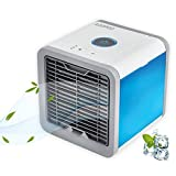 AOOPOO 3 in 1 Raumluftkühler, Luftbefeuchter und Luftreiniger mit USB Anschluß 3 Kühlstufen, 7 Farben LED Stimmungslichter Mini Luftkühler Mobile Klimageräte für Büro,Garage und Haus