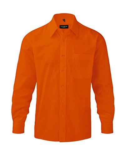 Preisvergleich Produktbild Russell Herren Hemd Polycotton Poplin R-934M-0 Orange 47-48 cm (3XL)