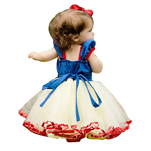 (Hirolan Partykleid Maxikleid Kleinkind 12 Monat - 5 Jahre Mädchen Weihnachten Prinzessin Kleid Festlich Hochzeits Blumenmädchen Kleider für Cosplay Leistung Abendkleider (Blau, 80))
