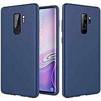FHXD Compatible con Funda Samsung Galaxy S20 Ultra Suave TPU Silicona Líquida Cubierta+1*Protector de Pantalla Anti-Scratch Anti-Shock Antideslizante Caso Cáscara-Azul