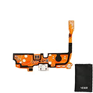USB Charger Jack Flex Cable with Speaker Compatible with LG Optimus L90 VEKIR Retail Packaging