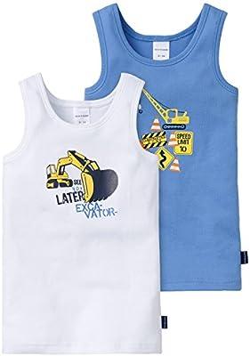 Schiesser 2pack Hemd 0/0 - Camiseta tirantes para niños
