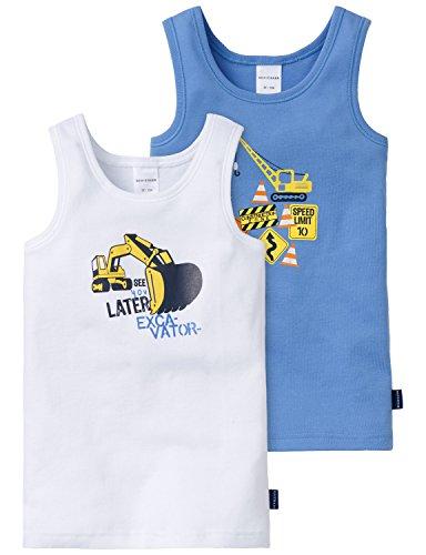 Schiesser AG Schiesser Jungen Unterhemd Multipack 2pack Hemd 0/0, 2er Pack, Mehrfarbig (blau Sortiert 1 901), 92