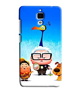 Blue Throat Pappu Pappa And Dogi Printed Designer Back Cover For Xiaomi Mi4